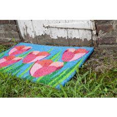 Field Of Tulips Non Slip Coir Doormat
