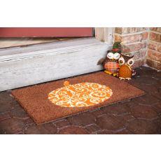 Scrolled Pumpkin Non Slip Coir Doormat