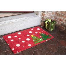 Christmas Trees Non Slip Coir Doormat