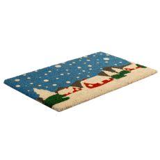 Snowy Village Non Slip Coir Doormat