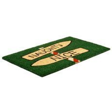 Naughty Or Nice Non Slip Coir Doormat