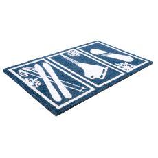 Snow Sports Non Slip Coir Doormat