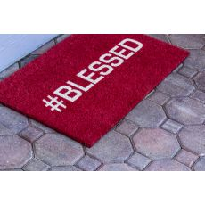 Blessed Non Slip Coir Doormat
