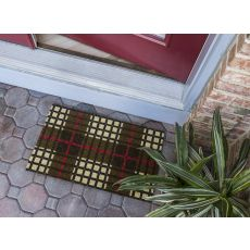 Plaid Non Slip Coir Doormat