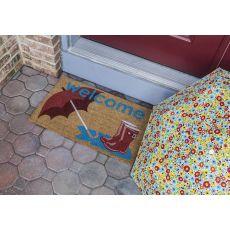 Boots And Umbrella Non Slip Coir Doormat