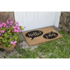 Hello Bye Non Slip Coir Doormat