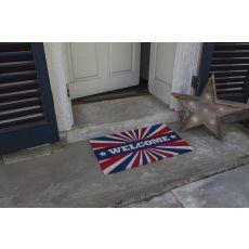 Patriotic Welcome Non Slip Coir Doormat