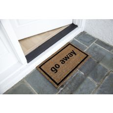 Go Away Black Non Slip Coir Doormat