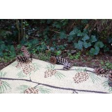 Pine Cones Non Slip Coir Doormat