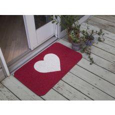 Warm Heart Pvc Doormat