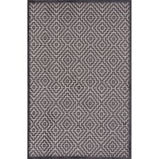 Contemporary Tribal Pattern Ivory/Gray Rayon And Chenille Area Rug (9X12)
