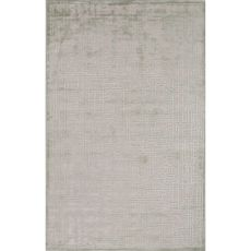 Contemporary Abstract Pattern Ivory/Green Rayon And Chenille Area Rug (9X12)