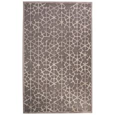 Contemporary Tribal Pattern Gray/Tan Rayon Chenille Area Rug (9X12)