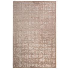 Contemporary Abstract Pattern Ivory/Beige Rayon Chenille Area Rug (9X12)