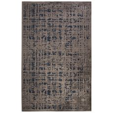 Contemporary Abstract Pattern Blue/Gray Rayon Chenille Area Rug (9x12)