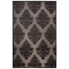 Damask Pattern Rayon Chenille Fables Area Rug