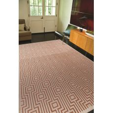 Contemporary Tribal Pattern Orange/Ivory Rayon And Chenille Area Rug (9X12)