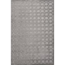 Trellis, Chain & Tiles Pattern Rayon And Chenille Fables Area Rug