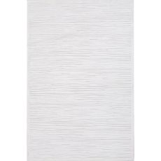 Contemporary Abstract Pattern Ivory/Taupe Rayon and Chenille Area Rug (9x12)