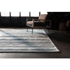 Contemporary Abstract Pattern Ivory/Gray Rayon And Chenille Area Rug (9X12)