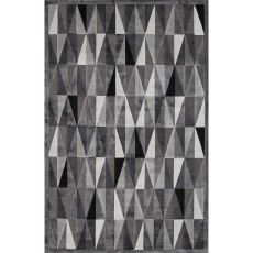 Contemporary Tribal Pattern Gray Rayon And Chenille Area Rug (9X12)