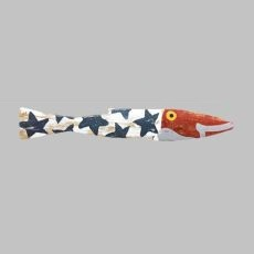 Fourth of July Fence Fish Wall Art