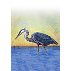 Blue Heron Designer Flag