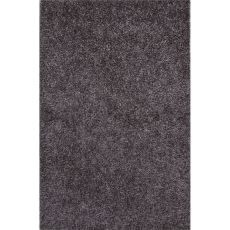 Shag Solid Pattern Gray Polyester Area Rug (7.6X9.6)