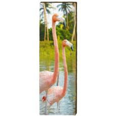 Pink Flamingo Wood Art