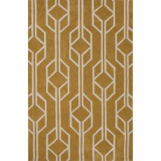 Contemporary Tribal Pattern Yellow/Gold Polyester Area Rug (7.6X9.6)