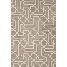 Trellis, Chain & Tiles Pattern Polyester Fusion Area Rug