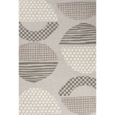 Contemporary Abstract Pattern Gray/Brown Polyester Area Rug (7.6x9.6)