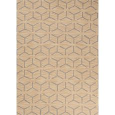 Contemporary Tribal Pattern Yellow/Beige Polyester Area Rug (7.6X9.6)