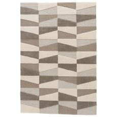 Youth Geometric Pattern Neutral/Brown Polyester Area Rug ( 9X12)