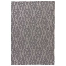 Contemporary Geometric Pattern Gray/Silver Polyester Area Rug ( 7.6X9.6)
