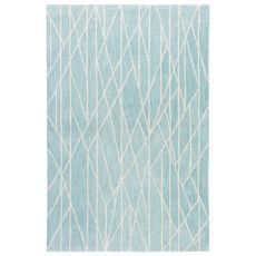 Geometric Pattern Polyester Fusion Area Rug