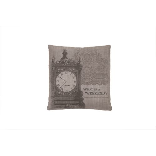 Iconic Weekend Pillow, Gray