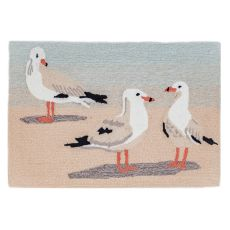 "Liora Manne Frontporch Gulls Indoor/Outdoor Rug Sand 20""X30"""