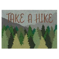 "Liora Manne Frontporch Take A Hike Indoor/Outdoor Rug Forest 20""x30"""