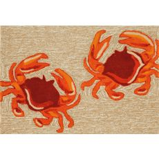 "Liora Manne Frontporch Crabs Indoor/Outdoor Rug - Natural, 30"" by 48"""
