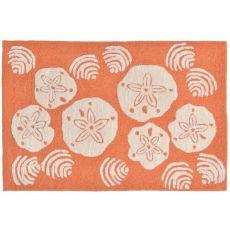 """Liora Manne Frontporch Shell Toss Indoor/Outdoor Rug - Orange, 30"""" by 48"""""""
