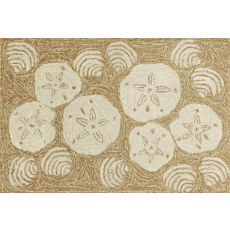 "Liora Manne Frontporch Shell Toss Indoor/Outdoor Rug - Natural, 24"" By 36"""