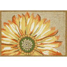 """Liora Manne Frontporch Sunflower Indoor/Outdoor Rug Yellow 30""""x48"""""""
