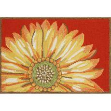"""Liora Manne Frontporch Sunflower Indoor/Outdoor Rug Red 24""""X36"""""""