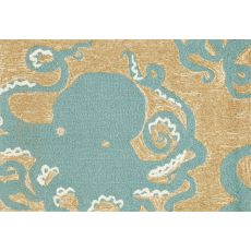 "Liora Manne Frontporch Octopus Indoor/Outdoor Rug - Blue, 24"" By 36"""