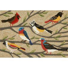 """Liora Manne Frontporch Birds Indoor/Outdoor Rug - Natural, 30"""" By 48"""""""