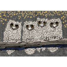 "Liora Manne Frontporch Owls Indoor/Outdoor Rug - Grey, 24"" By 36"""