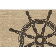 "Liora Manne Frontporch Ship Wheel Indoor/Outdoor Rug - Natural, 30"" by 48"""