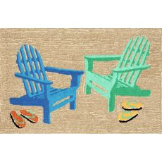 "Liora Manne Frontporch Adirondack Indoor/Outdoor Rug - Natural, 24"" By 36"""
