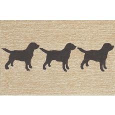 "Liora Manne Frontporch Doggies Indoor/Outdoor Rug - Natural, 24"" By 36"""